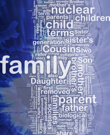 Background concept wordcloud illustration of family international illustration