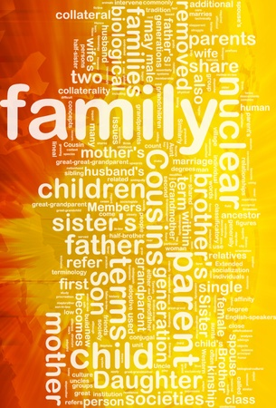 Background concept wordcloud illustration of family international Stock Illustration - 10287856