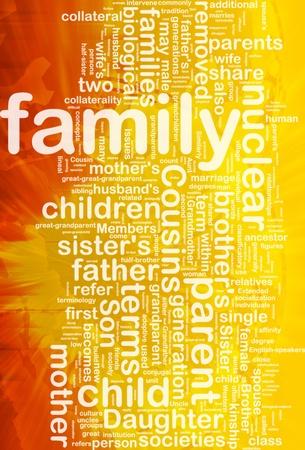 Background concept wordcloud illustration of family international Stock Illustration - 10287856