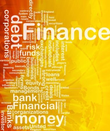 fund world: Concept diagram wordcloud illustration of finance money funds international