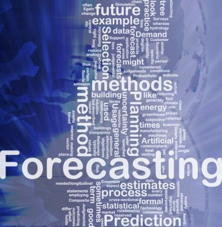Achtergrond concept wordcloud illustratie van het voorspellen van de internationale Stockfoto