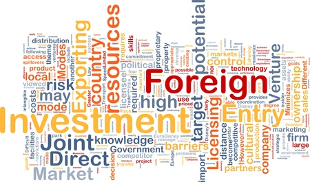 ownership and control: Background concept wordcloud illustration of business foreign investment