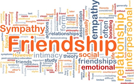 relational: Background concept wordcloud illustration of friendship