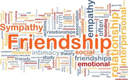 empatia: Ilustraci�n de wordcloud concepto de fondo de la amistad
