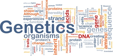 Background concept wordcloud illustration of genetics dna genes illustration