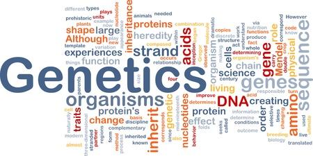 genes: Wordcloud concepto de fondo de la ilustraci�n de la gen�tica genes de ADN