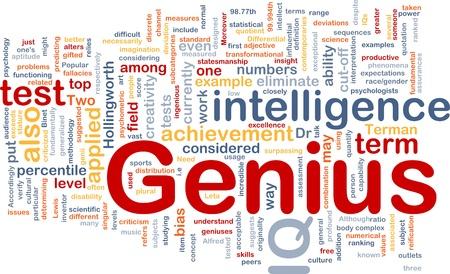 Notion de base wordcloud illustration de l'intelligence génie QI