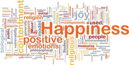 Background concept wordcloud illustration of happiness