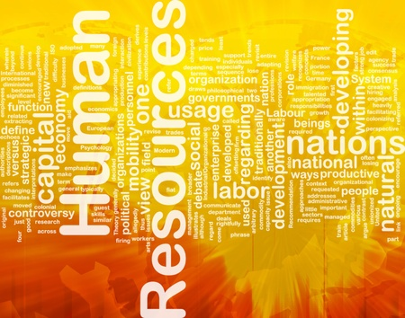 Background concept wordcloud illustration of human resources international illustration
