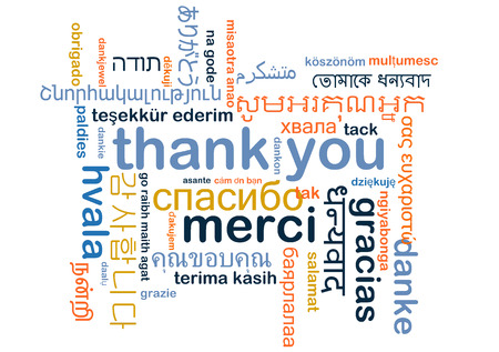 Background concept wordcloud multilanguage international many language illustration of thank you Фото со стока - 38498785