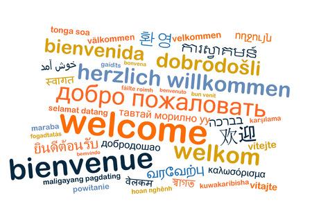 multilingual: Background concept wordcloud multilanguage international many language illustration of welcome