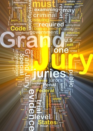 jury: Background text pattern concept wordcloud illustration of grand jury glowing light