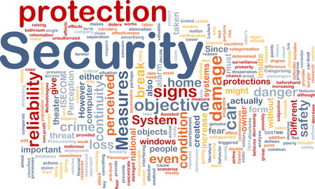 perceived: Background text pattern concept wordcloud illustration of security protection