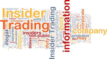 insider trading: Background text pattern concept wordcloud illustration of insider trading