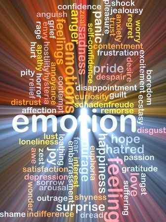 outrage: Background text pattern concept wordcloud illustration of emotion feelings glowing light