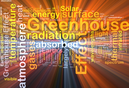wavelengths: Background text pattern concept wordcloud illustration of greenhouse effect glowing light