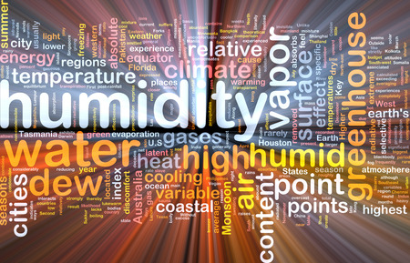 humidity: Background text pattern concept wordcloud illustration of humidity glowing light Stock Photo