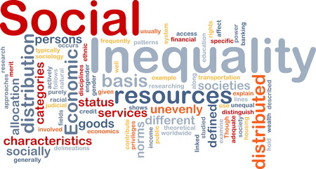 inequality: Background text pattern concept wordcloud illustration of social inequality