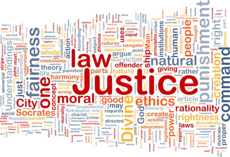 rightness: Background concept wordcloud of justice law