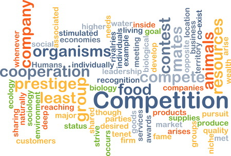 rival: Background text pattern concept wordcloud illustration of competition Stock Photo