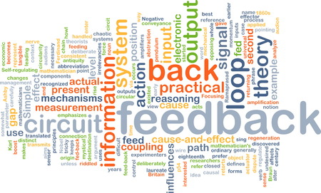 feed back: Background text pattern concept wordcloud illustration of feedback