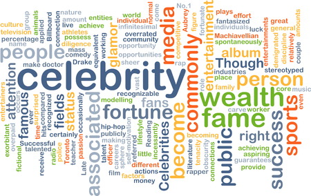 celebrity: Background text pattern concept wordcloud illustration of celebrity