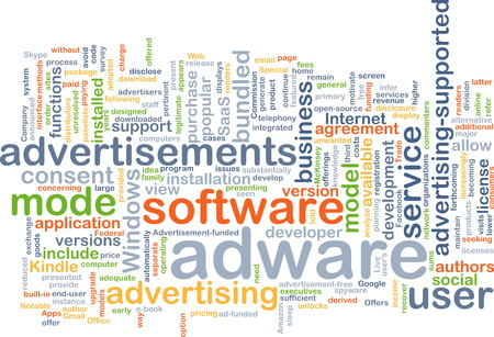 adware: Background text pattern concept wordcloud illustration of adware software