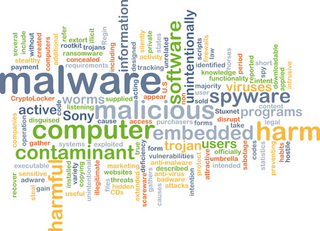 contaminant: Background text pattern concept wordcloud illustration of malware software