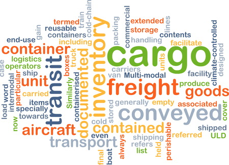 Background text pattern concept wordcloud illustration of cargo freight