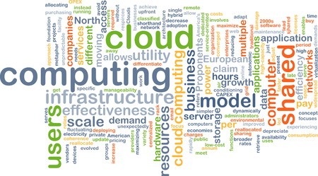 scalability: Background text pattern concept wordcloud illustration of cloud computing