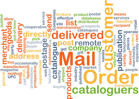 mail order: Background text pattern concept wordcloud illustration of mail order
