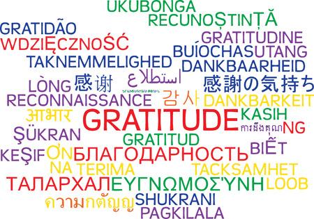 multilanguage: Background concept wordcloud multilanguage international many language illustration of gratitude