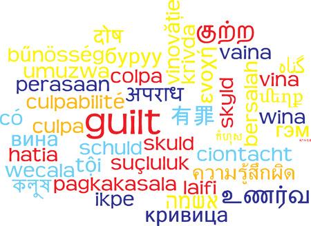 guilt: Background concept wordcloud multilanguage international many language illustration of guilt