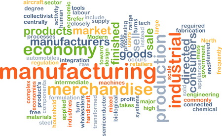 finished good: Background text pattern concept wordcloud illustration of manufacturing Stock Photo