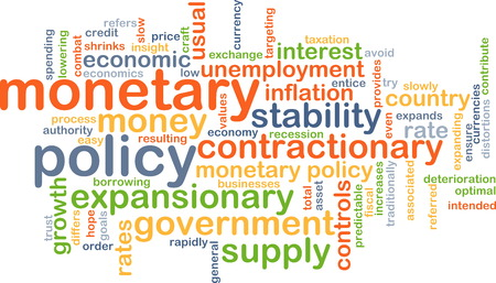 monetary policy: Background text pattern concept wordcloud illustration of monetary policy
