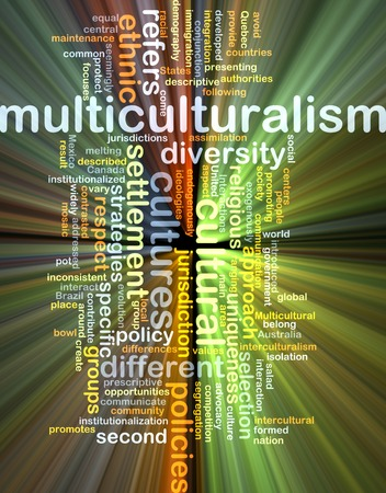 Background text pattern concept wordcloud illustration of multiculturalism glowing light 版權商用圖片