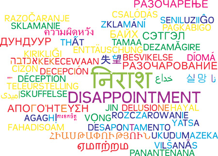 disappointment: Background concept wordcloud multilanguage international many language illustration of disappointment