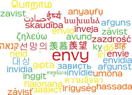 envy: Background concept wordcloud multilanguage international many language illustration of envy