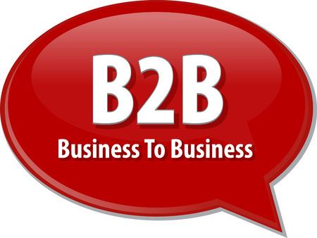 b2b: B2B Business to abreviatura de di�logo de negocios