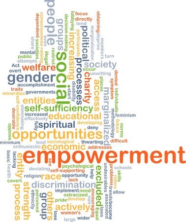 marginalized: Background text pattern concept wordcloud illustration of empowerment