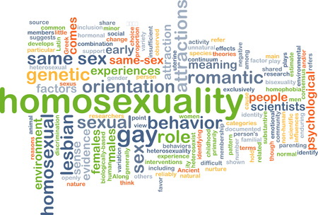 homosexual sex: Background text pattern concept wordcloud illustration of homosexuality gay