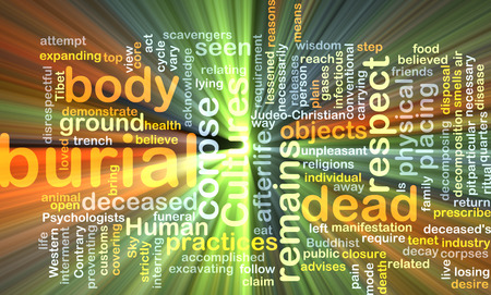corpse: Background text pattern concept wordcloud illustration of burial dead glowing light