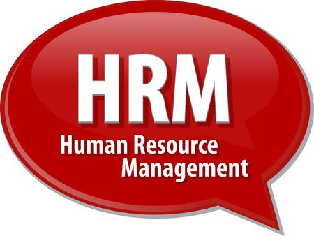 resource management: HRM Human Resource Management dialog abbreviation