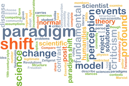 shift: Background text pattern concept wordcloud illustration of paradigm shift
