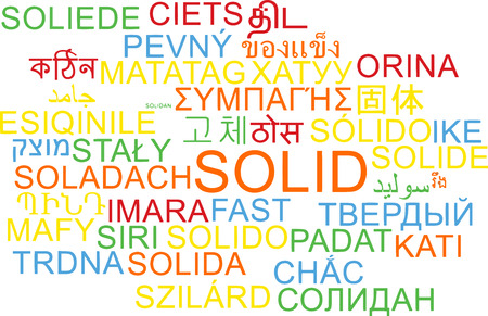 solid: Background concept wordcloud multilanguage international many language illustration of solid Stock Photo