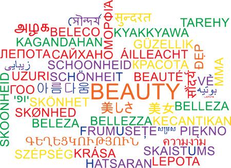 multilanguage: Background concept wordcloud multilanguage international many language illustration of beauty