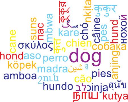 multilingual: Background concept wordcloud multilanguage international many language illustration of dog