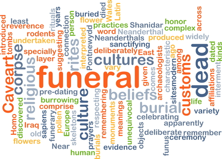 corpse: Background text pattern concept wordcloud illustration of funeral rites
