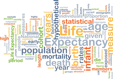 expectancy: Background text pattern concept wordcloud illustration of life expectancy