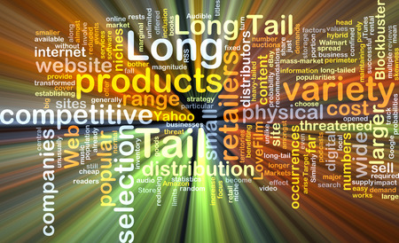 larger: Background text pattern concept wordcloud illustration of long tail logistics glowing light